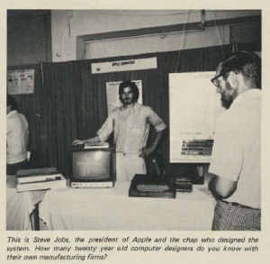 Steve Jobs in a 1976 copy of 73 Magazine