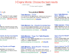 Blekko's Monte Tag Shows You Three Different Search Engine Result Options