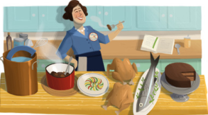 Google Doodle for Julia Child