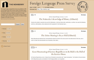 Foreign Language Press Survey