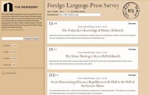Foreign Language Press Survey