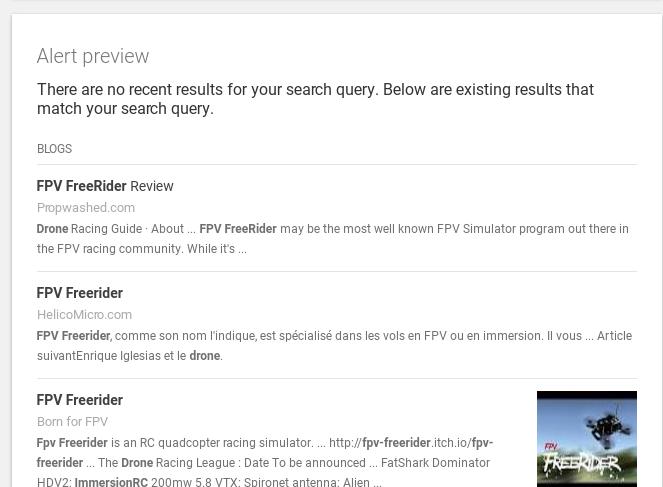 Google Alert Preview