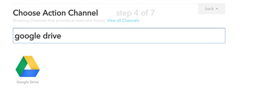 IFTTT Choose Action Channel