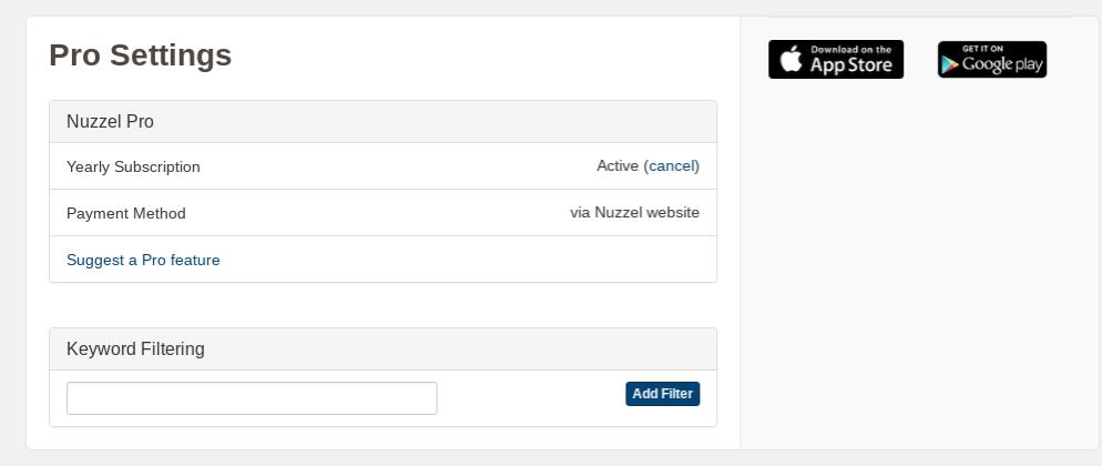 Nuzzel's Pro Settings
