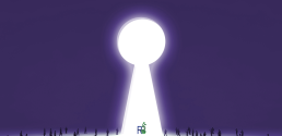 Giant keyhole with ResearchBuzz logo